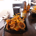 Those aren't onion rings.  Those are CALAMARI!