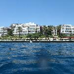 Baia hotel view from the sea
