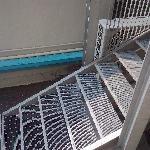 vue sur l'escalier de service