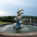 Fountain outside hotel