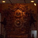 The GIANT cuckoo clock in the foyer