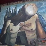 a huge mural