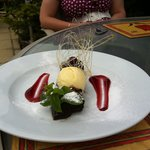 My friends amazing Chocolate Cherry Brownie