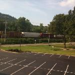 This is a great trainwatching hotel along a busy CSX line.