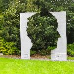 John B. Keane sculpture in the Garden of Europe.