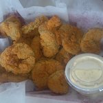 Fried pickles at the Shrimp Basket...Yum!