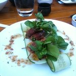 Beef carpaccio roll with cucumber!!