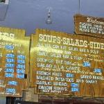 Bar-B-Q Bill's menu board