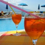 Apperol spritz in pool bar