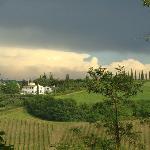 Campagne toscane après l'orage