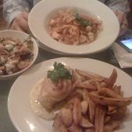 Our mains - big portions though be careful!