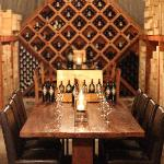 The Library Tasting Room in the Wine Cave.
