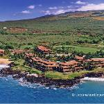 Aerial view of Makena Surf, Makena, Maui, HI