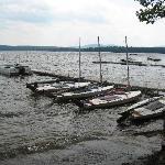 Sailboats at Lake Forest dock