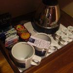 Tés y cafés obsequio del mismo hotel
