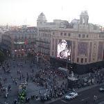 plaza del Callao desde el balcón de la habitación