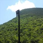 Profile returned to cliff on Cannon Mountain