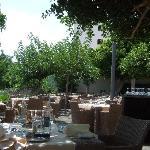 Lovely terrace restaurant area