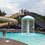 Hotel's Pool and Waterslide