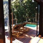 private pool and rainforest