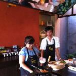 And here is chef Nok and Tum (her assistant)