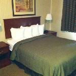 basic but comfortable bedroom