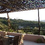 Terrasse pour dîner et petit dej
