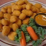 Fresh plate of cheese curds