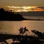Coucher du soleil  vu des bungalows