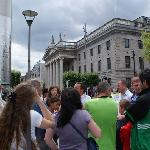 A tour group at the GPO - the HQ of the Rebels of 1916