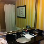 Turn-around bathroom