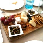 Delicious and plentiful cheese plate