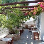 Frühstücksterrasse Hotel Manos