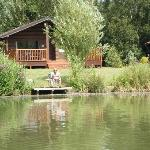 Our lodge from the other side of the lake.....