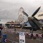 spitfire display beside the pier