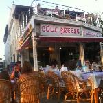 evening sun and food at cool breeze