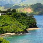 View beach ( paved path from Pali Ke  Kua )