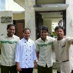 Our cook, between the two houseboys & Wayan our driver on the right