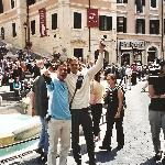 at the spanish steps with a chinese journalist