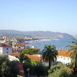 panorama visto dal balcone dell'hotel piccolo