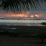 Sonnenaufgang vom Bungalow aus gesehen