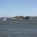 Great view of Alcatraz from end of pier