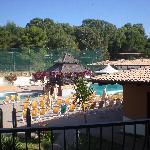Vista piscine dal balcone