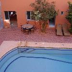 Pool in courtyard.