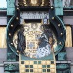 Hoher Markt clock strikes noon