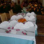 une belle table pour le dernier diner