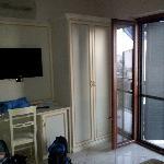 La televisione e il balconcino