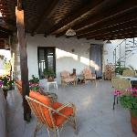 A pretty terrace for guests