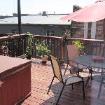 patio, second floor