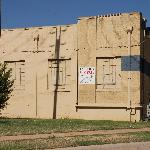 Vacant building across the street from Frontier Texas